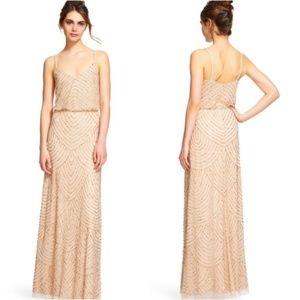 ADRIANNA PAPELL Art Deco Beaded Blouson Gown